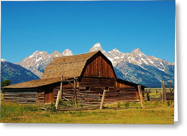 Rand Park Greeting Cards - Moulton Barn Greeting Card by Dany  Lison
