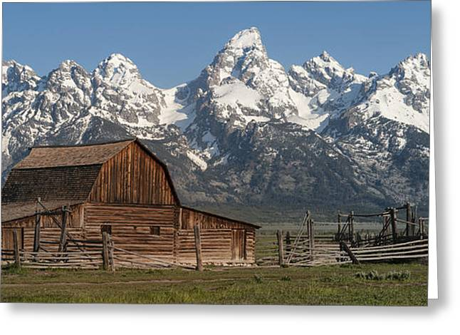 Old Wood Greeting Cards - Moulton Barn - Grand Tetons I Greeting Card by Sandra Bronstein