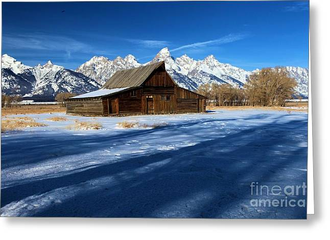 Most Photographs Greeting Cards - Moulton Barn Landscape Greeting Card by Adam Jewell