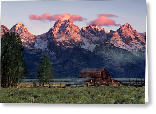 Wyoming Greeting Cards - Moulton Barn Greeting Card by Leland D Howard