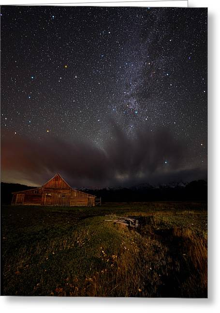 Night Photography Workshop Greeting Cards - Moulton Barn Milk Greeting Card by Mike Berenson