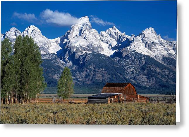 Leland Howard Greeting Cards - Moulton Barn Tetons Greeting Card by Leland D Howard