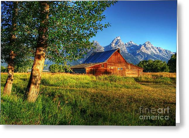 Western Western Photographs Greeting Cards - Moultons Barn 3 Greeting Card by Mel Steinhauer