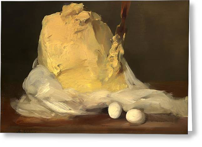 Mound Greeting Cards - Mound of Butter Greeting Card by Antoine Vollon