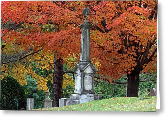 Auburn Ma Greeting Cards - Mount Auburn Cemetery Greeting Card by Juergen Roth