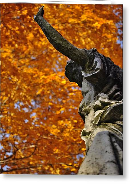 Auburn Ma Greeting Cards - Mount Auburn Statuary Greeting Card by Michael Dyer