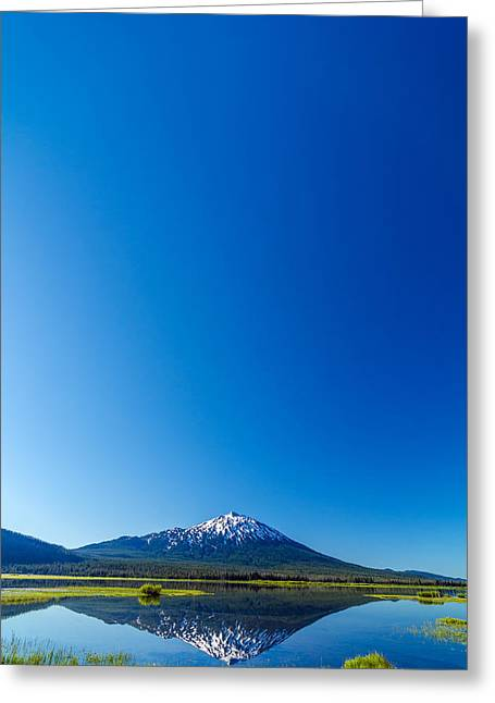 Mt Bachelor Greeting Cards - Mount Bachelor and Sky Greeting Card by Jess Kraft