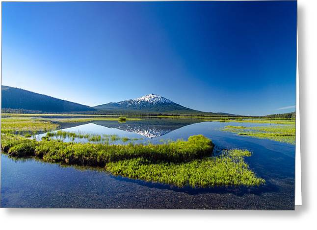 Mt Bachelor Greeting Cards - Mount Bachelor and Sparks Lake Greeting Card by Jess Kraft