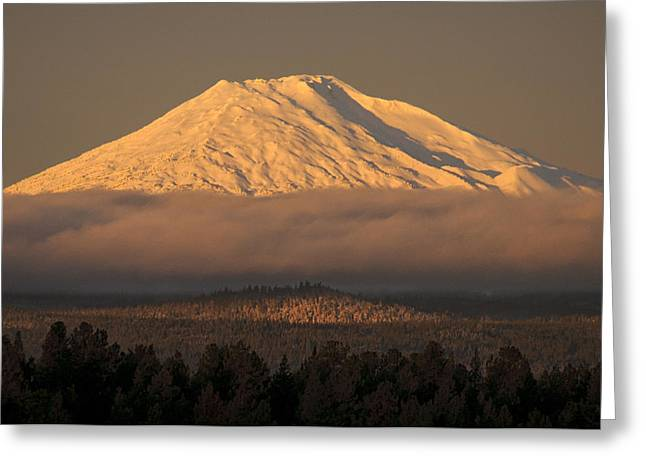 Deschutes Greeting Cards - Mount Bachelor Glory Greeting Card by Christian Heeb