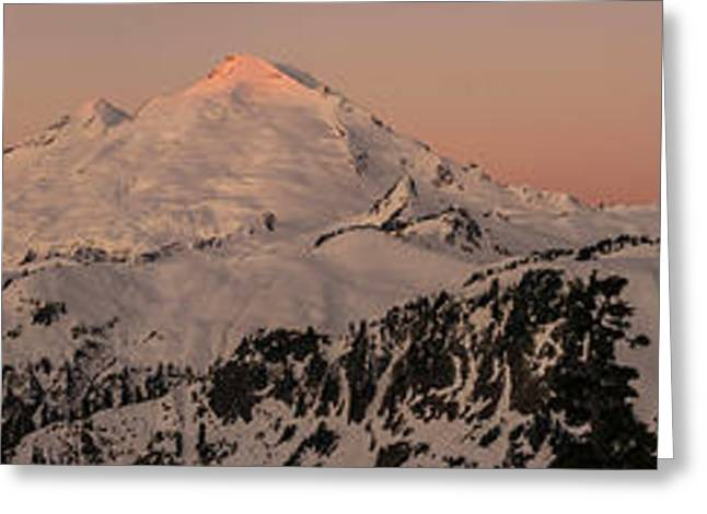North Cascades Greeting Cards - Mount Baker Majestic Greeting Card by Mike Reid