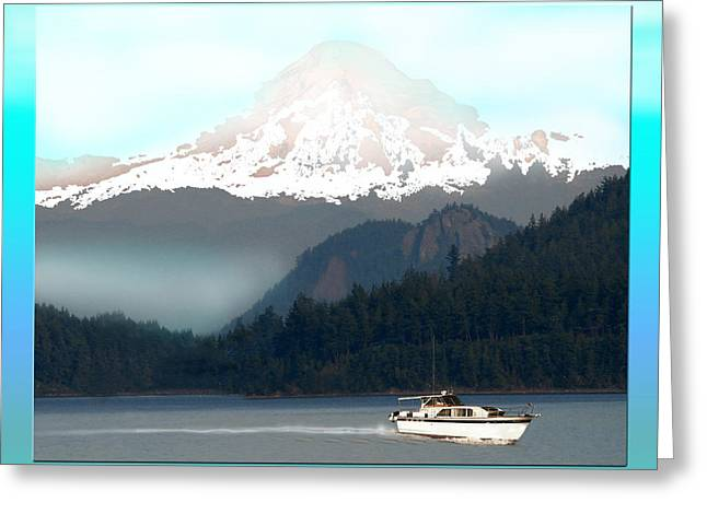 Because Greeting Cards - Mount Baker Misty Morning Greeting Card by Jack Pumphrey