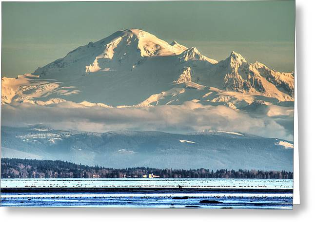 Most Greeting Cards - Mount Baker Washington Greeting Card by Pierre Leclerc Photography