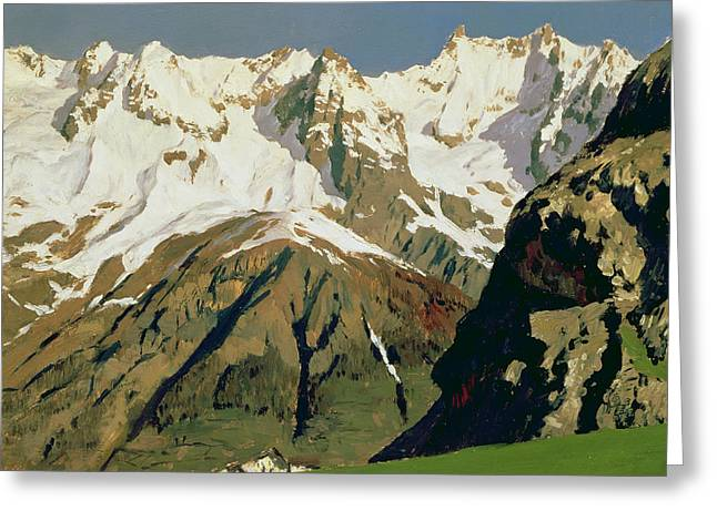 Swiss Paintings Greeting Cards - Mount Blanc Mountains Greeting Card by Isaak Ilyich Levitan