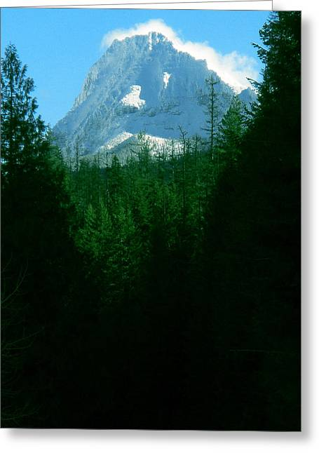 Big Pine Country Greeting Cards - Mount Brown Breathes Greeting Card by Teri Garrison-Kinsman