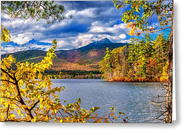 Quintessential Greeting Cards - Mount Chocura - Autumn Spectacular Greeting Card by Thomas Schoeller