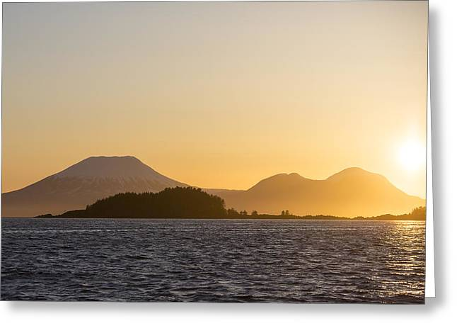 Mount Edgecome Sunset Greeting Card by Tim Grams