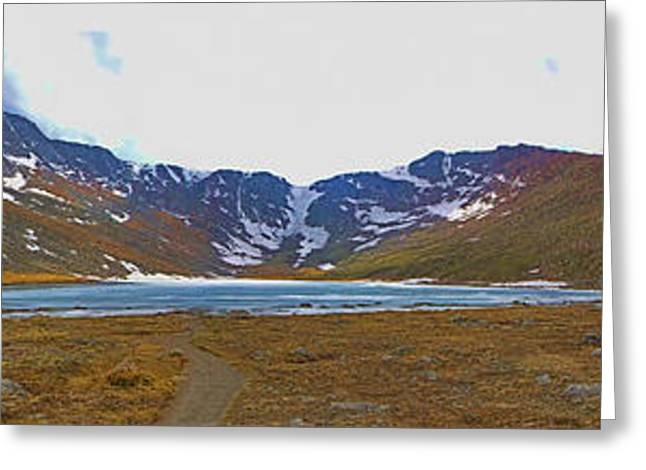 Scenic Drive Greeting Cards - Mount Evans and Summit Lake Greeting Card by Gary Holmes
