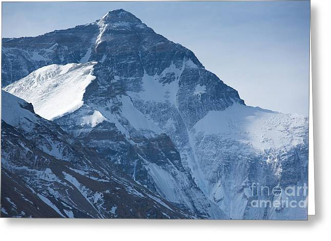 Mt Everest Base Camp Greeting Cards - Mount Everest at 8850 m Greeting Card by Michel Piccaya