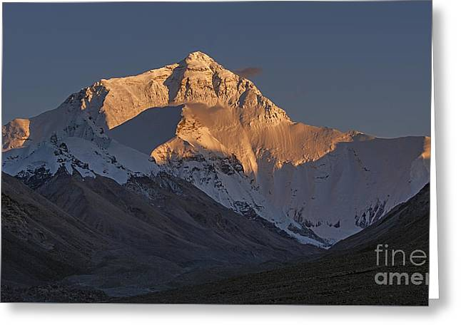Singular Greeting Cards - Mount Everest at dusk Greeting Card by Hitendra SINKAR