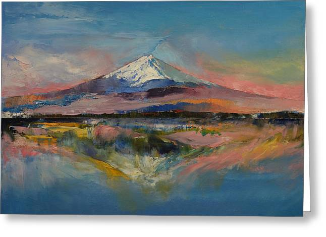 Mount Fuji Greeting Card by Michael Creese