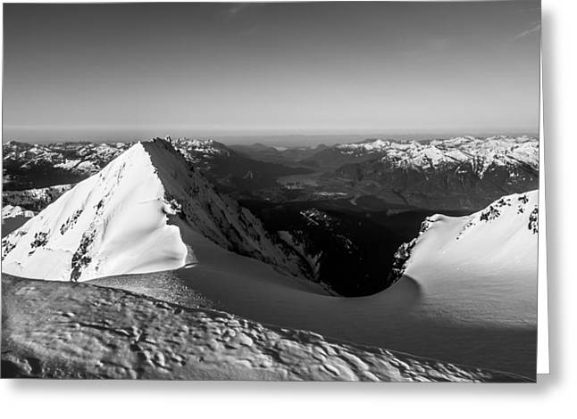 British Columbia Greeting Cards - Mount Garibaldi Summit  Greeting Card by Ian Stotesbury