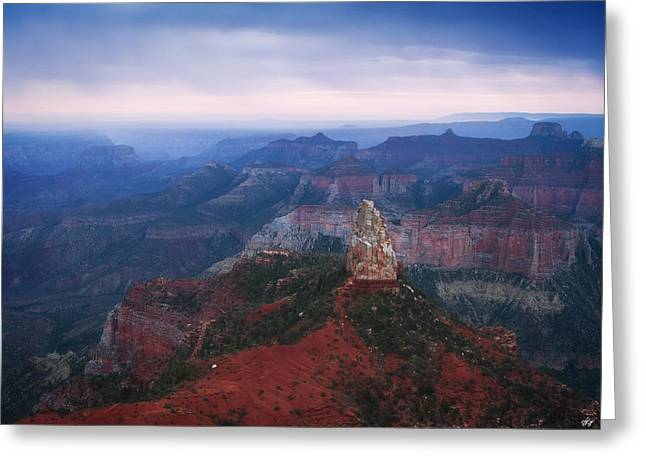 Mount Hayden Morning Greeting Card by Peter Coskun