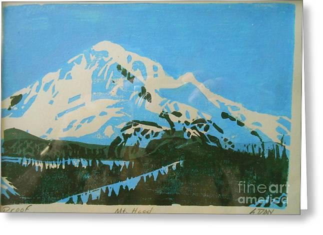 Skiing Prints Greeting Cards - Mount Hood Greeting Card by E Dan Barker