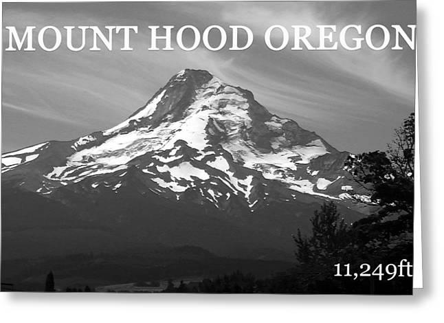 Mount Hood Oregon Greeting Cards - Mount Hood horizontal Greeting Card by David Lee Thompson