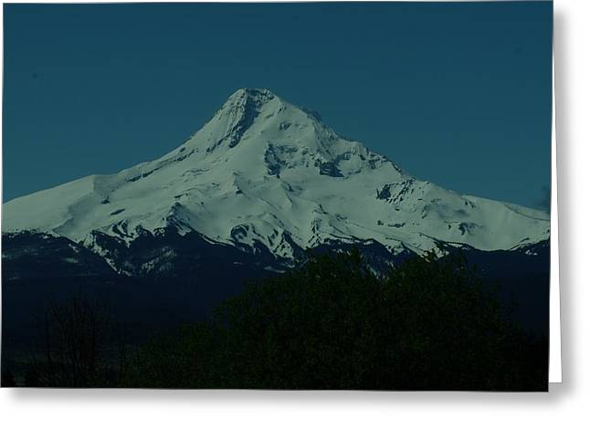 Snow Capped Greeting Cards - Mount Hood Oregon Greeting Card by Jeff  Swan