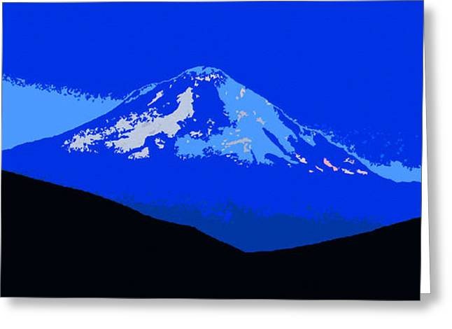Snow-covered Landscape Digital Greeting Cards - Mount Hood Panoramic Greeting Card by David Lee Thompson