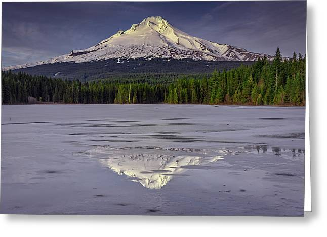 Mount Photographs Greeting Cards - Mount Hood Reflections Greeting Card by Rick Berk