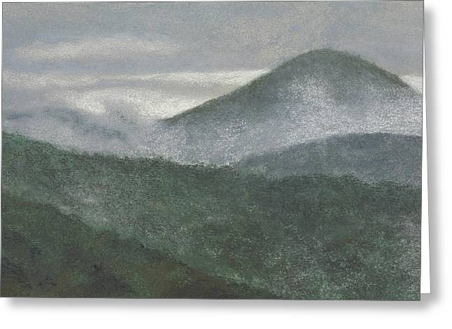 Fog Pastels Greeting Cards - Mount Judea Greeting Card by Garry McMichael