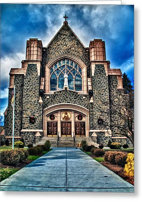 Klimis Greeting Cards - Mount Kisco Church Greeting Card by Emmanouil Klimis