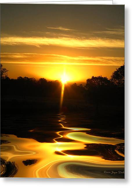 Numbers Plus Photography Greeting Cards - Mount Lassen Sunrise Gold Greeting Card by Joyce Dickens