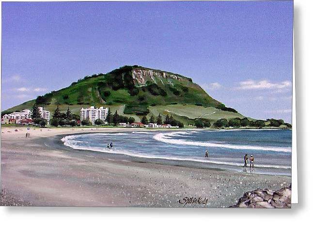 Mount Maunganui Greeting Cards - Mount Maunganui 080108 Greeting Card by Sylvia Kula
