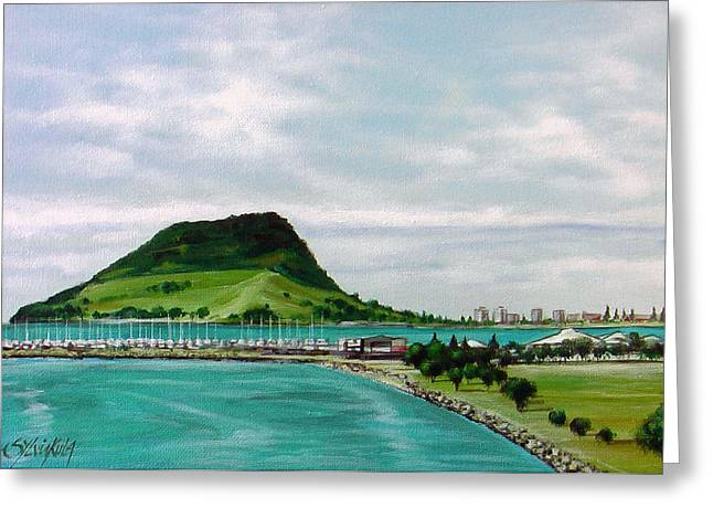 Mount Maunganui Greeting Cards - Mount Maunganui 271207 Greeting Card by Sylvia Kula