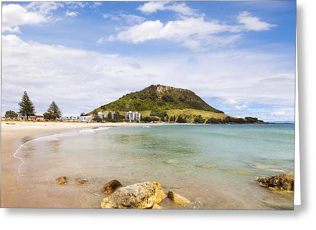 Mount Maunganui Greeting Cards - Mount Maunganui Bay of Plenty New Zealand Greeting Card by Colin and Linda McKie