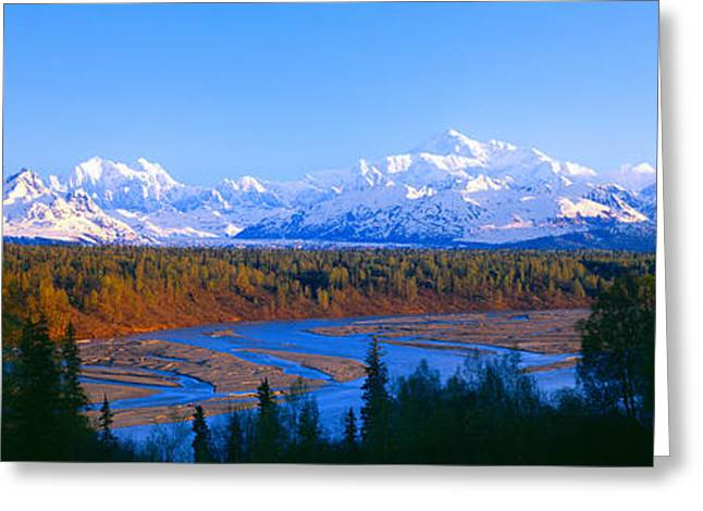 Snow Capped Greeting Cards - Mount Mckinley, Alaska Greeting Card by Panoramic Images