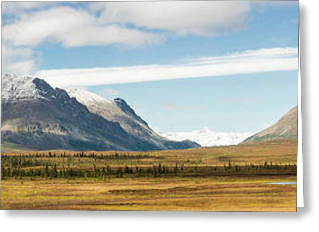 Mount Moffit And Mcginnis Peak Landmark Greeting Card by Panoramic Images