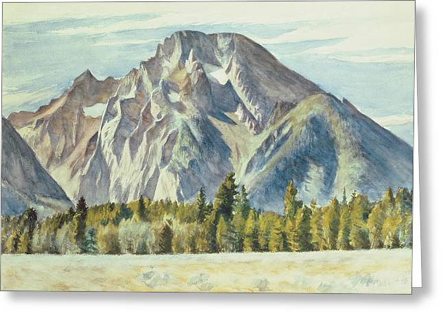 Moran Greeting Cards - Mount Moran Greeting Card by Edward Hopper