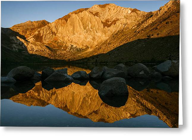 Quite Greeting Cards - Mount Morrison Convict lake morning Greeting Card by Vishwanath Bhat