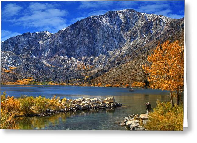 Convicts Greeting Cards - Mount Morrison Overlooking Convict Lake Greeting Card by Donna Kennedy
