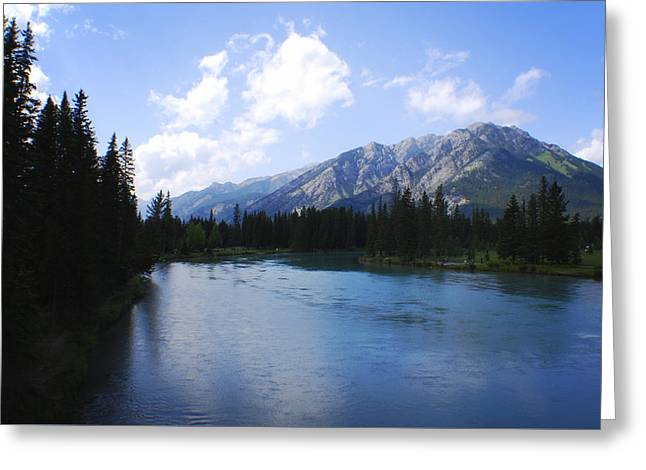 Nature Scene Greeting Cards - Mount Norquay Canadian Rockies Greeting Card by Terry DeLuco