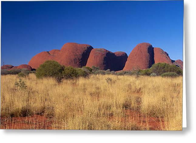 Monolith Greeting Cards - Mount Olga, Uluru-kata Tjuta National Greeting Card by Panoramic Images