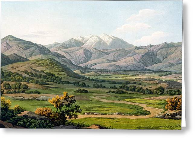 Path Drawings Greeting Cards - Mount Olympus Greeting Card by Edward Dodwell