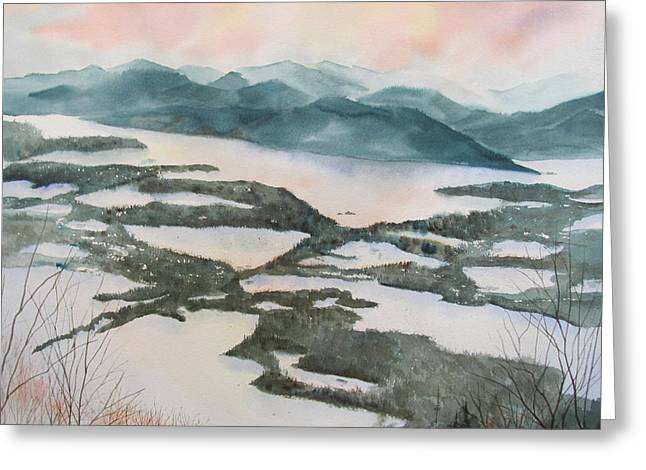 Charlotte Vermont Greeting Cards - Mount Philo Winter Greeting Card by Amanda Amend