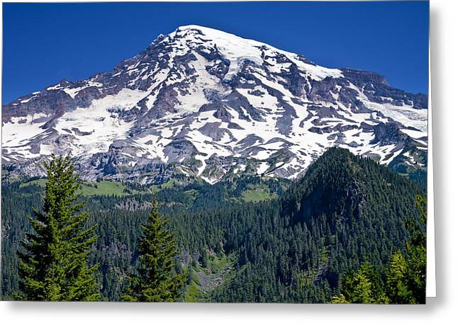 Seattle Photographs Greeting Cards - Mount Rainer in Washington State Greeting Card by Randall Nyhof