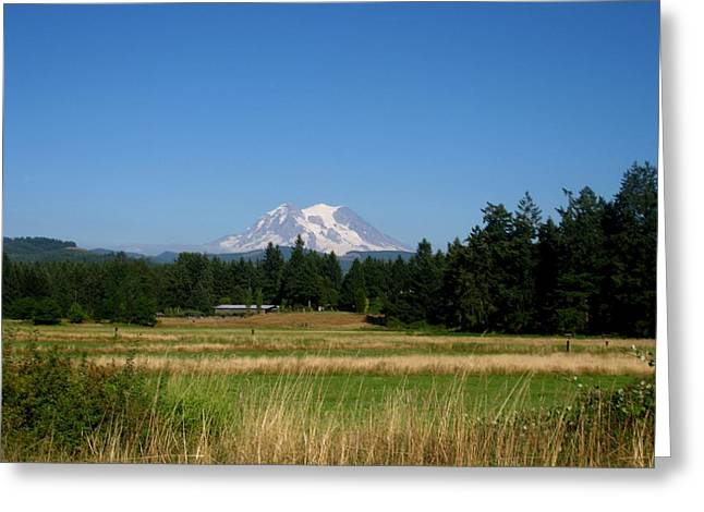 Mt. Massive Greeting Cards - Mount Rainier 8 Greeting Card by Kathy Long