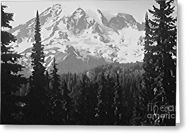 Nature Greeting Cards - Mount Rainier Greeting Card by Ann Johndro-Collins