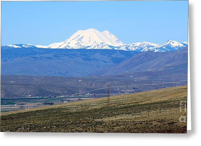 Yakima Valley Greeting Cards - Mount Rainier from Selah Viewpoint Greeting Card by Carol Groenen